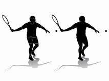 Tennis della siluetta, disegno di vettore Immagine Stock Libera da Diritti