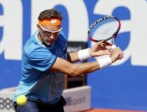 Tennis Denis Istomin dell'Uzbeco Fotografia Stock Libera da Diritti