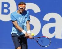 Tennis Denis Istomin dell'Uzbeco Fotografie Stock Libere da Diritti