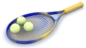 tennis des trains 3d Photos libres de droits