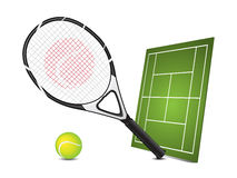 Tennis design elements Royalty Free Stock Photography