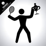 Tennis design Stock Images