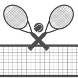 Tennis  design over white background  illustration eps 10 Royalty Free Stock Photos
