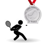 Tennis design. Sport icon. Isolated illustration, editable vector Stock Photos