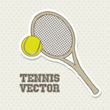 Tennis design white Royalty Free Stock Image