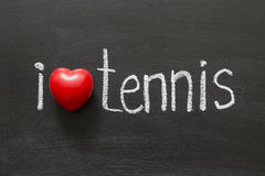 Tennis di amore Fotografia Stock