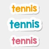 Tennis di logo di vettore su un fondo leggero Immagine Stock