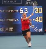 tennis di svetlana di rus del giocatore di kuznetsova Fotografie Stock