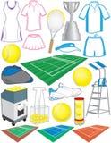 Tennis-Einzelteile Stockfoto