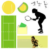 Tennis Elements Royalty Free Stock Photo