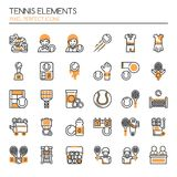 Tennis Elements Royalty Free Stock Images