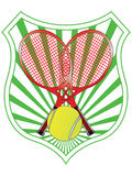 Tennis emblem Royalty Free Stock Photography