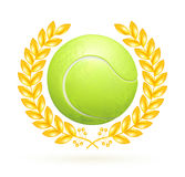 Tennis emblem. Computer illustration, isolated on the white Royalty Free Stock Images