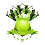 Tennis emblem Stock Image