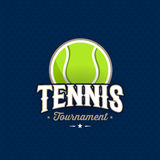 Tennis emblem blue Stock Photos