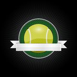 Tennis emblem Stock Images
