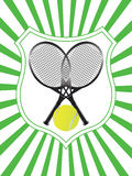 Tennis emblem vector Stock Image