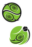 Tennis emblems. And symbols isolated on white background for sports design Stock Images
