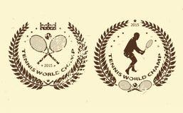 Tennis emblems Royalty Free Stock Image
