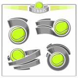 Tennis emblems Stock Images