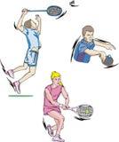Tennis en Badminton stock illustratie