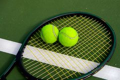 Tennis equipment Stock Images