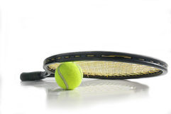 Tennis equipment stock photo