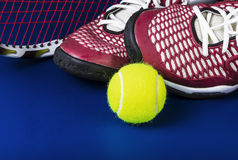Tennis Equipment Basics Royalty Free Stock Image