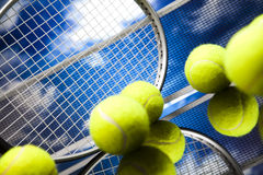 Tennis equipment Stock Image