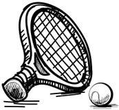 Tennis equipment Royalty Free Stock Image