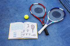 Tennis Equipment Leisure Sport Concept Stock Photos