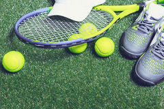Tennis equipment Royalty Free Stock Image