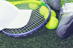 Tennis equipment Royalty Free Stock Photos