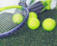 Tennis equipment Royalty Free Stock Photography