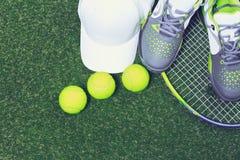 Tennis equipment Stock Photo