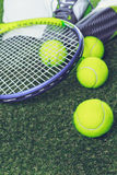 Tennis equipment Stock Image