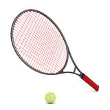 Tennis equipment. On a white background Stock Photos