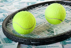 Tennis - expensive sport. Royalty Free Stock Photos