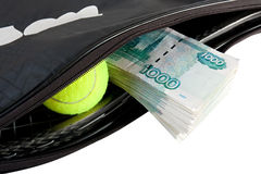 Tennis - expensive sport. Royalty Free Stock Photography