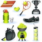 tennis för 2 symboler Fotografering för Bildbyråer