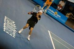 tennis för andreas spelareseppi Arkivfoton