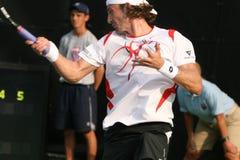tennis för ferreroforehandspelare Royaltyfri Bild