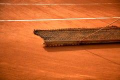 tennis för leradomstolunderhåll Royaltyfri Foto