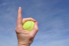 tennis för nummer ett Arkivbilder