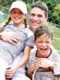 Tennis family. Royalty Free Stock Photo