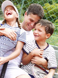 Tennis family. Stock Photos