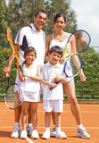 Tennis family Stock Image