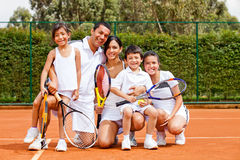 Tennis family Stock Images