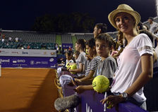 Tennis fans waiting for autographs Royalty Free Stock Photo