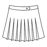 Tennis female skirt icon, outline style Royalty Free Stock Image